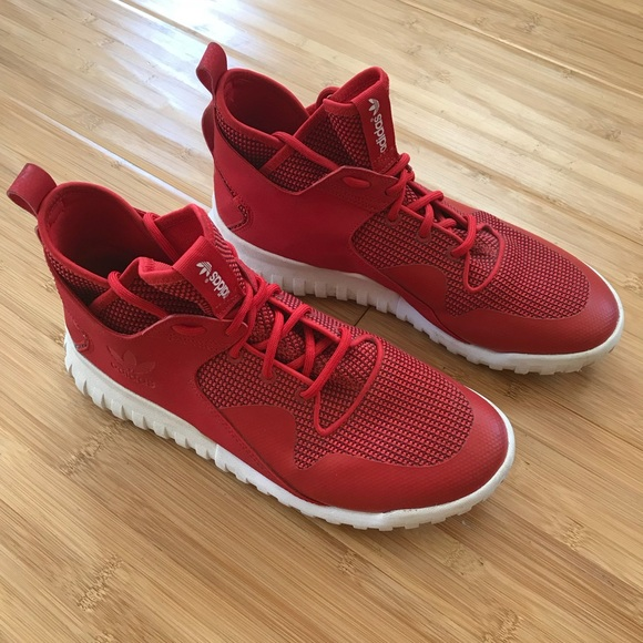 meet 90e56 8797a Adidas Tubular x Red White